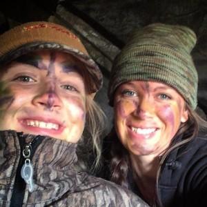 Trisha & daughter turkey hunting